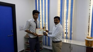 Harsh first prize in singing at MP Pharma league