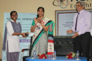 Receiving prize