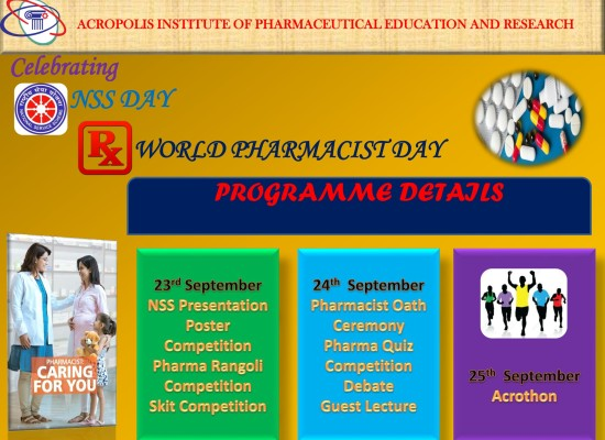 NSS DAY AND WORLD PHARMACIST DAY CELEBRATION
