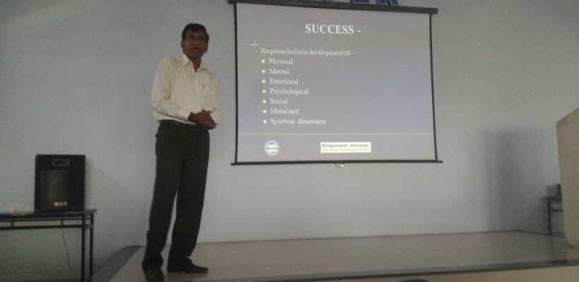 Guest lecture on Personality Development